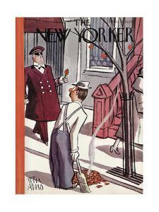 The New Yorker Cover - October 29, 1938 by Peter Arno