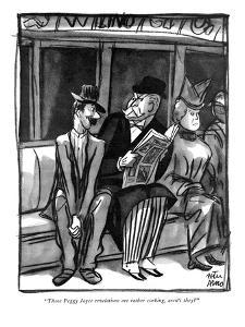 """Those Peggy Joyce revelations are rather corking, aren't they?"" - New Yorker Cartoon by Peter Arno"