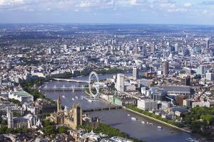 Aerial View of the Houses of Parliament by Peter Barritt
