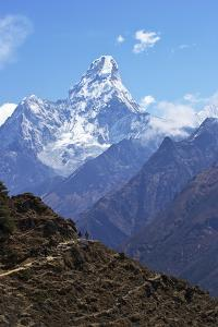 Ama Dablam from Trail Between Namche Bazaar and Everest View Hotel, Nepal, Himalayas, Asia by Peter Barritt