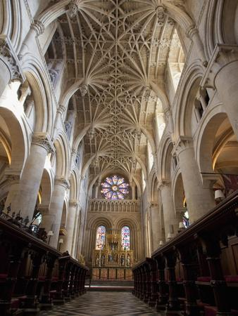 Christ Church Cathedral Interior, Oxford University, Oxford, England