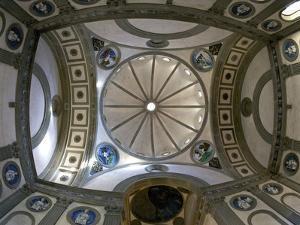 Cupola, Pazzi Chapel, Designed by Brunelleschi, Santa Croce Church, Florence, UNESCO World Heritage by Peter Barritt