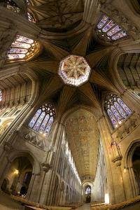 Ely Cathedral Interior, Lantern and Nave, Ely, Cambridgeshire, England, United Kingdom, Europe by Peter Barritt