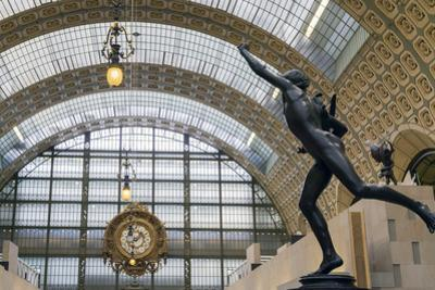 Interior of Musee D'Orsay Art Gallery, Paris, France, Europe by Peter Barritt