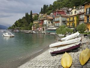 Lakeside View of the Medieval Village of Varenna, Lake Como, Lombardy, Italian Lakes, Italy, Europe by Peter Barritt