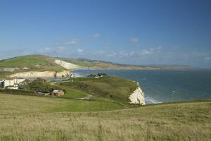 Tennyson Down Looking Towards Freshwater Bay, Isle of Wight, England, United Kingdom, Europe by Peter Barritt