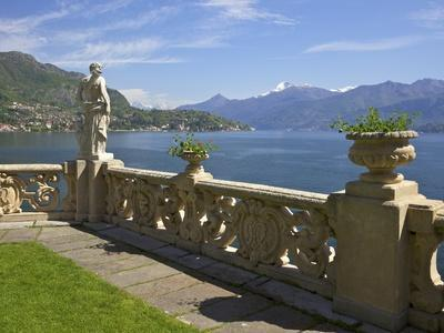 View from Terrace of 18th Century Villa del Balbianello, Lenno, Lake Como, Italian Lakes, Italy