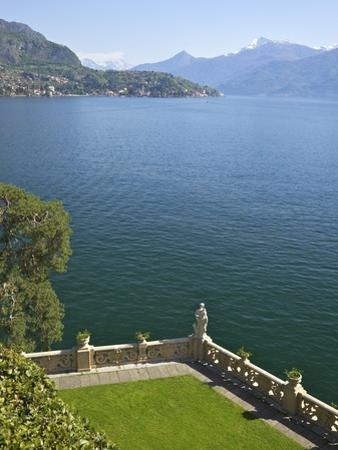 View from Terrace of 18th Century Villa del Balbianello, Lenno, Lake Como, Italian Lakes, Italy by Peter Barritt
