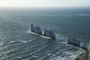 View of the Needles, Isle of Wight, England, United Kingdom, Europe by Peter Barritt