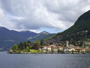 View of Torno in Spring Sunshine, Lake Como, Lombardy, Italian Lakes, Italy, Europe by Peter Barritt