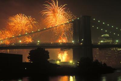 4th of July, Brooklyn Bridge, New York, USA