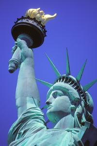 Close-Up of the Statue of Liberty, New York, USA by Peter Bennett