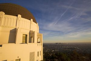 Griffith Observatory and Los Angeles Skyline, California, USA by Peter Bennett