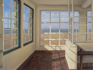 Shelter, Winter Light, Weston-Super-Mare, 2007 by Peter Breeden