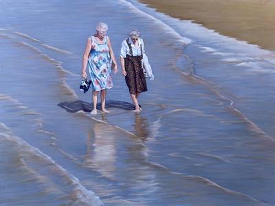 Two Ladies Paddling - Weston-Super-Mare