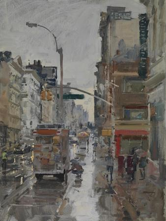Morning Rain, Broadway and Canal Street, 2017