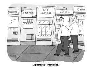 """Apparently I was wrong."" - Cartoon by Peter C. Vey"