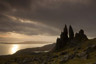 Old Man of Storr at Dawn, Skye, Inner Hebrides, Scotland, UK, January 2011 by Peter Cairns