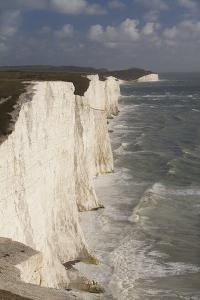 Seven Sisters Chalk Cliffs, South Downs, England by Peter Cairns