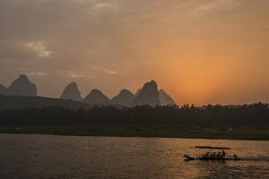 A Tour Boat on the Li River by Peter Carsten