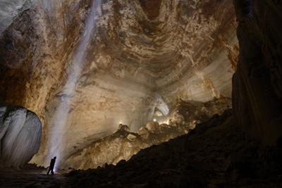 A Waterfall Hundreds of Feet Underground in Hong Meigui by Peter Carsten