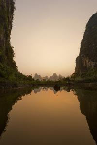 Karst Peaks at Yangshuo in China's Yulong River Valley by Peter Carsten