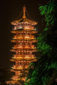 The Gold Pagoda on Mulong Lake by Peter Carsten