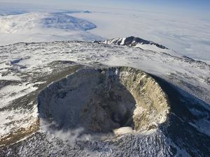 The Main Crater of Mount Erebus by Peter Carsten