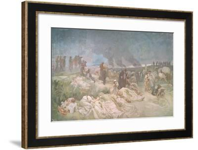 Peter Chelcicky (C.1390-C.1460) at Vodnany, from the 'Slav Epic', 1918-Alphonse Mucha-Framed Giclee Print