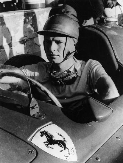 Peter Collins in a Ferrari, C1956--Photographic Print