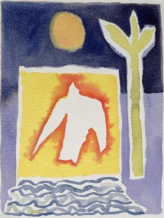 Tree, Sun and Rising Bird, 1989