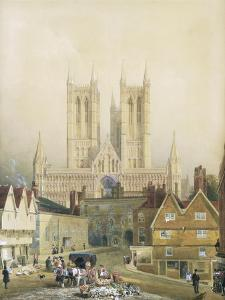 Lincoln Cathedral, 19th Century by Peter De Wint