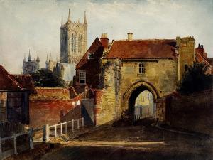 Potter Gate, Lincolnshire by Peter De Wint