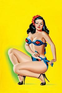 Beauty Parade Magazine; Pinup in a Bikini by Peter Driben