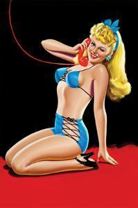 Eyeful Magazine; Pin Up in Blue Bikini by Peter Driben
