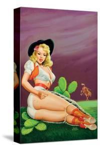Flirt Magazine; Fallin' on the Cactus by Peter Driben