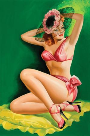 Flirt Magazine; Pinup with Hat by Peter Driben