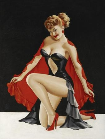 Mid-Century Pin-Ups - Magazine Cover - Little Red Cape