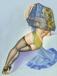 Mid-Century Pin-Ups - The Veil by Peter Driben