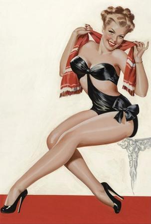 Mid-Century Pin-Ups - Wink Magazine - Silk Stockings & High Heels