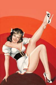 Titter Magazine; Winking Brunette by Peter Driben