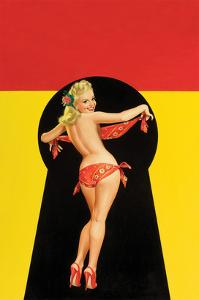 "Whisper Magazine; ""Keyhole Pinup with Bandana"" by Peter Driben"