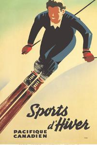 Canada Winter Sports (Sports d'Hiver) - Canadian Pacific by Peter Ewart
