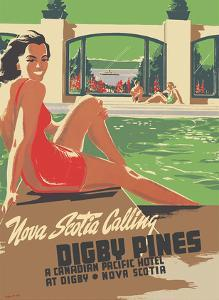 Digby Pines - Nova Scotia - Canadian Pacific Hotel by Peter Ewart