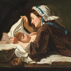 Mother and Child, 1833 by Peter Fendi