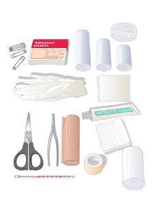 First Aid Kit Equipment, Artwork by Peter Gardiner