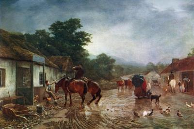 A Rainy Day, 1870 by Peter Graham