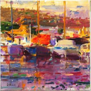 Blue Boat, St Tropez by Peter Graham