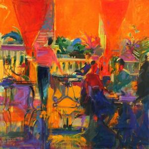 Courtyard Cafe, Tunis by Peter Graham