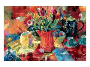 Pitcher of Flowers by Peter Graham